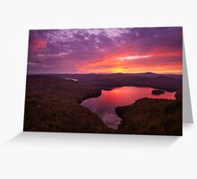 Nichols Ledge Autumn Sunset Greeting Card