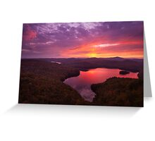 Nichols Ledge Autumn Sunset Greeting Card