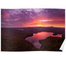 Nichols Ledge Autumn Sunset Poster