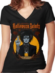 Halloween Saints: Billy Butcherson Women's Fitted V-Neck T-Shirt