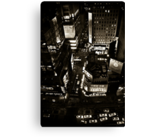 ''Little White Taxis'' Canvas Print