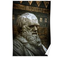 Charles Darwin close up at the Natural History Museum Poster