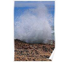 Wave Crashing Poster