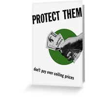 Don't Pay Over Ceiling Prices -- WW2 Greeting Card