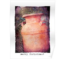 Milk Can Christmas Poster