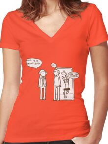 """""""It's a drugs bust"""" Women's Fitted V-Neck T-Shirt"""