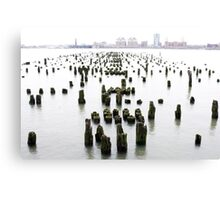 a-pier-ing from the hudson ... Canvas Print