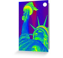 Lady Liberty in the Moonlight Greeting Card