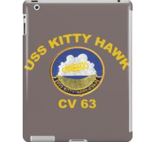 USS Kitty Hawk (CV-63, CVA-63) Crest for Dark Colors iPad Case/Skin