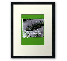 """1989 Tiananmen square Tank Man"" T-Shirt etc... Framed Print"