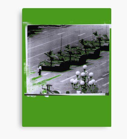 """1989 Tiananmen square Tank Man"" T-Shirt etc... Canvas Print"