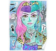 Psychobilly Dead Girl Poster
