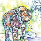 Multi-Color Water Elephant by Henna Sexton