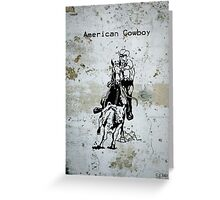 American Cowboy Western Riding Roping Greeting Card