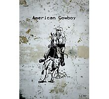American Cowboy Western Riding Roping Photographic Print