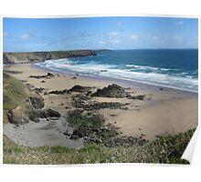 Pembrokeshire - marlo beach Poster