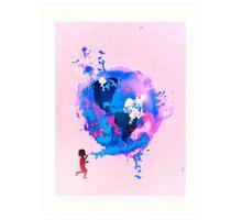Bubble Earth Art Print