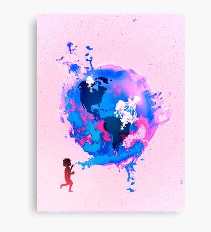 Bubble Earth Canvas Print