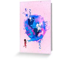Bubble Earth Greeting Card