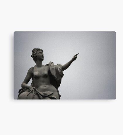Sculpture of the Belvedere Palace, Vienna Canvas Print