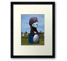 About Face Framed Print