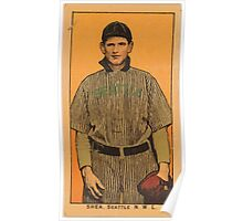 Benjamin K Edwards Collection Shea Seattle Team baseball card portrait Poster
