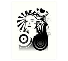 Holly BW Art Print