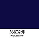 Pantone TARDIS Blue by twig3721