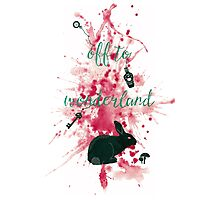 Off to Wonderland Photographic Print