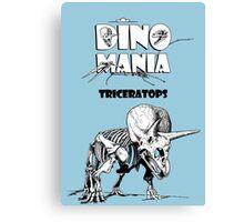 Dino Mania Triceratops Canvas Print