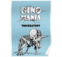 Dino Mania Triceratops Poster