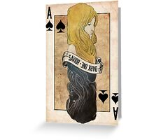 Ace of Spades: Emma Swan Greeting Card