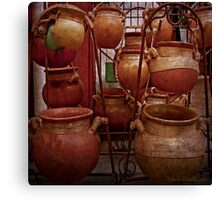 Mexican Clay Pots Canvas Print