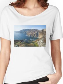 Sliabh Liag sea cliffs in Co. Donegal Women's Relaxed Fit T-Shirt