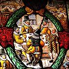 Stained glass. Torre de Ruesga, Cantabria, Spain  by buttonpresser