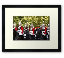 Household cavalry in the Mall Framed Print