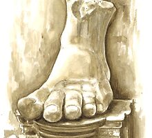 Foot of Emperor Constantine the Great, c. 315  by Greta Art