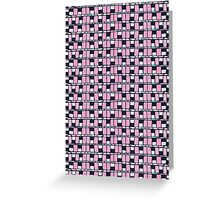 80 windows abstract retro pattern Greeting Card