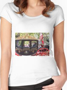 Prince Phillip, The duke of Edinburgh in a golden coach in the mall Women's Fitted Scoop T-Shirt