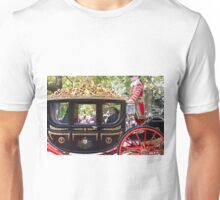 Prince Phillip, The duke of Edinburgh in a golden coach in the mall Unisex T-Shirt