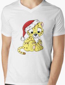 Jabari in a Christmas Hat Mens V-Neck T-Shirt