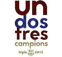 Barcelona: Treble Winners Shirt Alternate Photographic Print