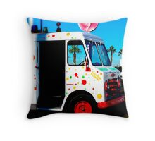 Lolly Truck Throw Pillow