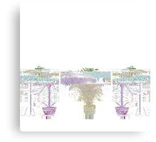 Money Tree Glitch Canvas Print