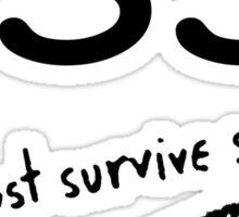 Walking Dead - Just survive somehow Sticker