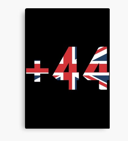 UK - +44 United Kingdom - Country Code Canvas Print