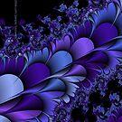 Purple Petals Fractals by Susan Sowers