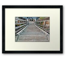 walkway to the beach- Cambria, California Framed Print