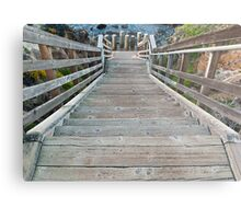 walkway to the beach- Cambria, California Metal Print