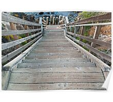 walkway to the beach- Cambria, California Poster